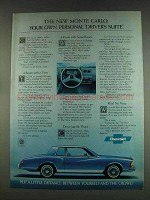 1978 Chevy Monte Carlo Ad - Personal Driver's Suite