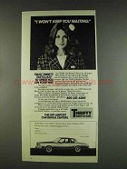 1978 Thrifty Rent-a-car ad - I Won't Keep You Waiting