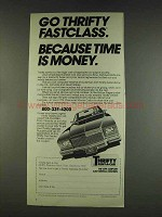 1978 Thrifty Rent-a-car ad - Go Thrifty Fastclass