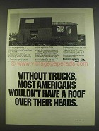 1978 ATA American Trucking Association Ad - Roof Over