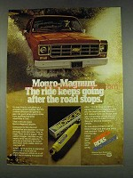 1978 Monroe Monro-Magnum Shocks Ad - Ride Keeps Going