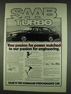 1978 Saab Turbo Car Ad - Passion for Power