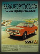 1978 Colt Sapporo car Ad - The New High Flyer