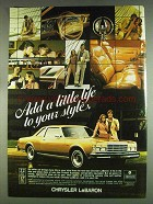 1978 Chrysler LeBaron Ad - Add A Little Life