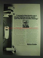 1978 Motor-Guide Trolling Motor Ad - Saved a Few Bucks