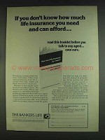 1978 The Bankers Life Ad - If You Don't Know How Much