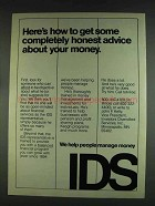 1978 IDS Investors Diversified Services Ad - Advice