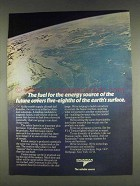 1978 Grumman Fusion Energy Ad - Fuel for the Future