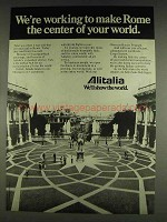 1978 Alitalia Airlines Ad - Make Rome Center of World