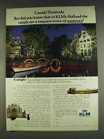 1978 KLM Royal Dutch Airlines Ad - Canals?