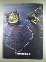 1978 Seagram's Crown Royal Ad - The Butler Did It