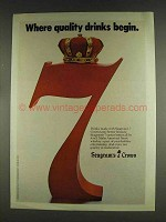 1978 Seagram's 7 Crown Whiskey Ad - Quality Drinks