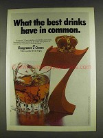 1978 Seagram's 7 Crown Whiskey Ad - Have in Common