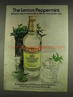 1978 Leroux Peppermint Schnapps Ad - Flavor on Vine