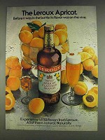 1978 Leroux Apricot Flavored Brandy Ad - Flavor On Vine