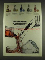1978 Arrow Cordials Ad - Caramella, Blue Curacao