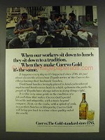 1978 Cuervo Gold Tequila Ad - Workers Sit Down to Lunch