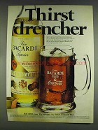 1978 Bacardi Rum & Coca-Cola Ad - Thirst Drencher