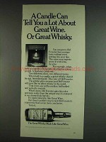 1978 Old Forester Whisky Ad - A Candle Can Tell A Lot