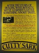 1978 Cutty Sark Scotch Ad - 280 Years With Royalty