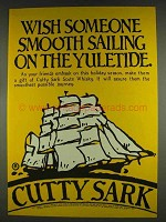 1978 Cutty Sark Scotch Ad - Sailing on the Yuletide