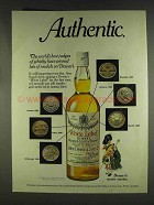 1978 Dewar's White Label Scotch Ad - Pinned Medals