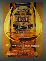 1978 E&J Brandy Ad - Hear From A Friend