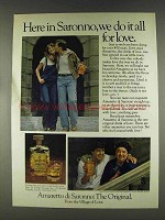1978 Amaretto di Saronno Ad - Do It All For Love