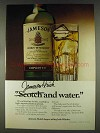 1978 Jameson Irish Whiskey Ad - And Water