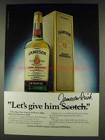 1978 Jameson Irish Whiskey Ad - Let's Give Him