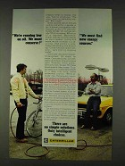1978 Caterpillar Tractor Co. Ad - Running Low on Oil