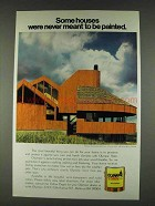 1978 Olympic Stain Ad - Houses Never to Be Painted
