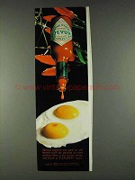 1978 Tabasco Pepper Sauce Ad - Aged in Oak