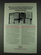 1978 Roche Vitamins Ad - Information on Their Labels
