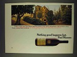 1978 Paul Masson Cabernet Sauvignon Wine Ad