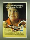 1978 Swiss Miss Chocolate Pudding Ad - Bigger the Smile
