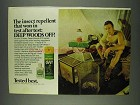 1978 Deep Woods Off! Insect Repellent Ad - Won Test