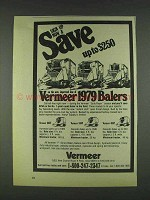 1978 Vermeer Balers Ad - 605F, 504F and 403F
