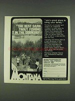 1978 Montana Tourism Ad - Best Darn Trout Fishing