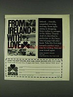 1978 Ireland Tourism Ad - From Ireland With Love