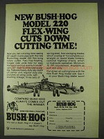 1978 Bush Hog Model 220 Ad - Flex-Wing