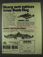 1978 Bush Hog Model 207, 220 Flex-Wing Ad