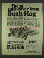 1978 Bush Hog Model 315 Ad - The Time-Saver