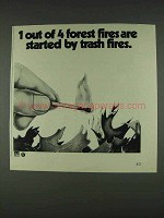 1978 Smokey the Bear Ad - Started by Trash Fires