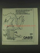 1978 Oasis Water Cooler Ad - Spoonbill Named Gil