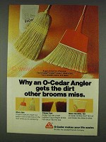 1978 O-Cedar Angler Broom Ad - Gets The Dirt