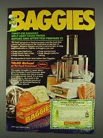 1978 Baggies Food Storage Bags Ad - Keep Food Fresh