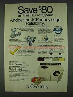 1978 JCPenney Washer #1840 and Dryer #4740 Ad
