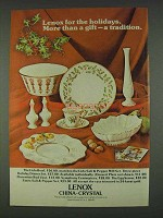 1978 Lenox China Ad - Lido Bowl, Egg Server