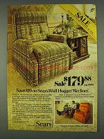 1978 Sears Wall Hugger Recliner Ad